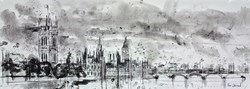 London Westminster at Dusk by Tim Steward -  sized 43x16 inches. Available from Whitewall Galleries